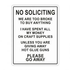 No Soliciting Sticker - Crafters